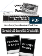 Family Camp Flyer - Harvesters