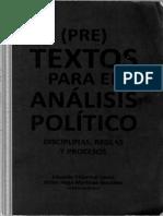 (Pre)Textos Para El Análisis Político. Disciplinas Reglas y Procesos