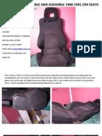 Crx Seat Diassembly & Assembly 1