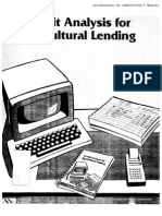 Credit Analysis for Agricultural Lending.