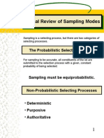 Q Review of Sampling Modes