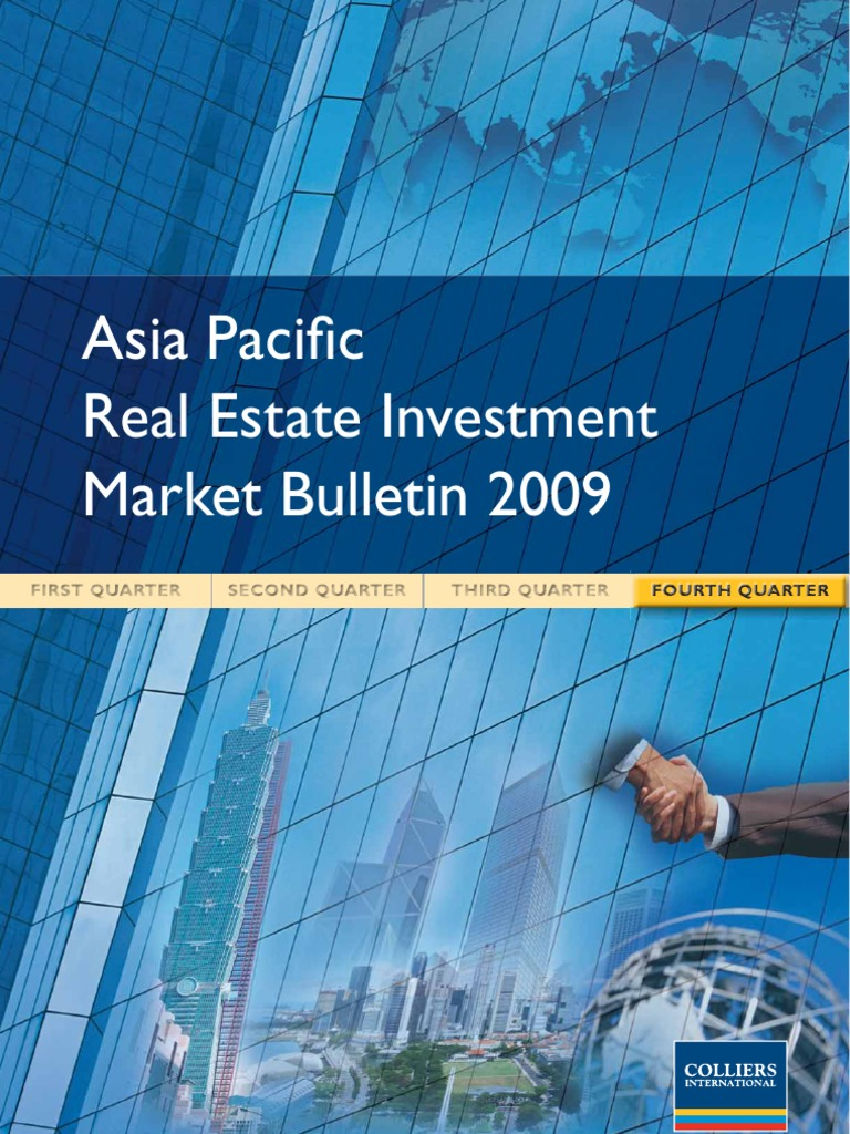Asia Pacific Real Estate Investment Market Bulletin Q4 2009 | Real Estate  Investment Trust | Investing