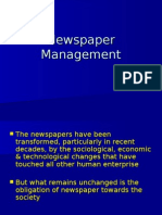 Management of Newspaper
