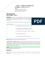 AVA - CDC Código dd Defesa do Consumidor - Aulas-Temas  1 a 4