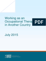 Working as an Occupational Therapist in Another Country 2015