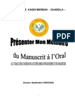 Presenter Mon Memoire