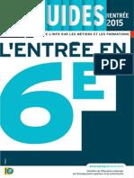 2015 Guide Onisep 6e Rentrée
