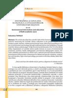 Informarea Si Educatia Ecologica Universitarilor Bălţeni
