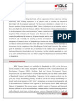 Internship Report On IDLC FInance
