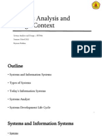 01 - Systems Analysis and Design Context