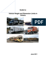 2011 Guide to Vehicle Weight and Dimension in Ontario[1]
