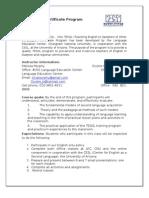 CNU TESOL Certificate Program