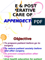 Pre & Post Operative Care of Appendicectomy