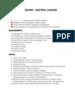 Gastric Lavage Procedure