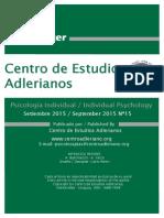 Newsletter Nº 15 Centro de Estudios Adlerianos