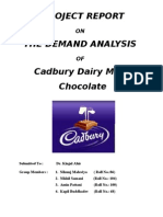 Final Demand Analysis of Cadbury Dairy Milk