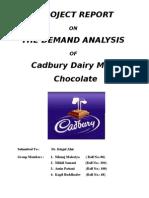 Final Demand Analysis of Cadbury Dairy Milk