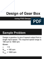 Design of 9 Speed Gear Box