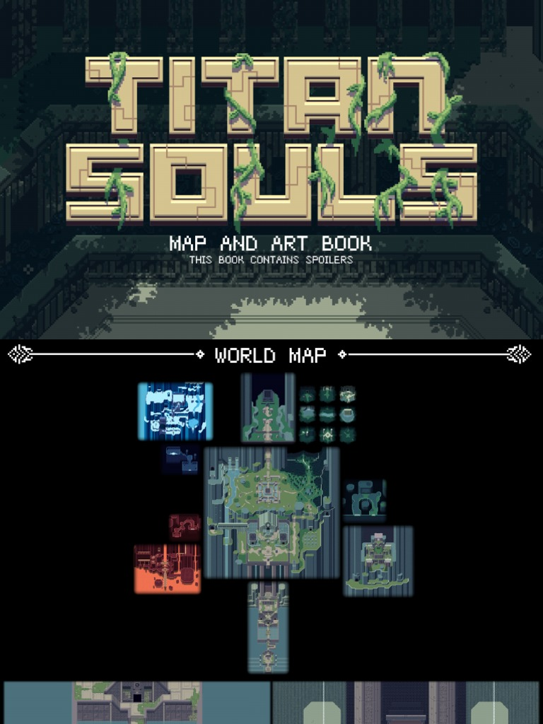 titan souls world map Titan Souls Map And Art Book