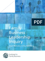 Family Business Leadership Inquiry