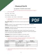 Preliminary Chemistry Notes