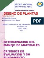 Manejo de Materiales Diseno de Plantas