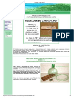 Filetador de Garrafa PET
