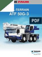 Grúa todo terreno TADANO ATF 50G-3 Bluetec