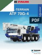 Grúa TADANO ATF 70G-4 Bluetec