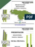 Encuesta  Hercon  Paramentarias Venzuela Agosto 2015