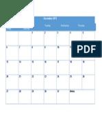 December 2015 Calendar Blank