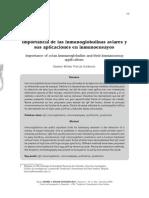 Importancia de Las Inmunoglobulinas Aviares