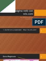 Diseño de Página Web Con Wix