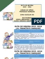 Ruta de Mejora 2015 - 2016
