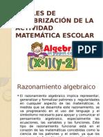 Niveles de Algebrización de La Actividad Matemática Escolar