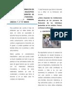 EL PROCESO DE FORMACIÓN EN LAS INSTITUCIONES EDUCATIVAS CON NIÑOS PROVENIENTES DE ALDEA Y DE FAMILIA FUNCIONAL CASO