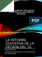 EDUCACION POLITICAS