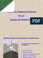 Los Cinco Sistemas Básicos de Un Equipo de Perforación