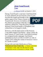 The Truth About Yusuf Kazab Blasphemy