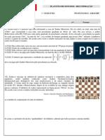 8º Ano - Lista Do Plantão de Recuperação - Matemática - 1º Semestre-2015 (1)