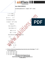 Jee Main 2014 Mathematics Solutions