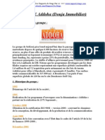Rapport de Stage Groupe ADDOHA - Www.rapport2stage.com