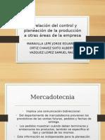 interrelacion del control y planeacion con otras áreas de la empresa