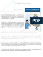 Manual de Construccion Para Propietario