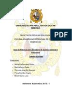 UNMSM Práctica N°2 Determinación de la Densidad de Sólidos y Líquidos