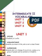 Unit 1&2&3 Vocabulary