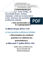 Conferences Du Professeur Omar Kihel