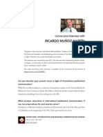 2014. Muñoz. Interview in Connexions