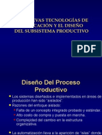 Nuevas Tecnologias de Fabricacion y Diseno Del Subsistema Productivo