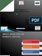 21952665 SWOT of Car Manufacturers